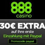 30 Euro PayPal Bonus im 888 Casino